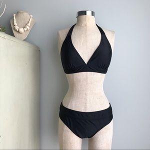 PRANA Lahari Halter Bikini Top & Rhamba Bottom M L